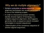 why we do multiple alignments