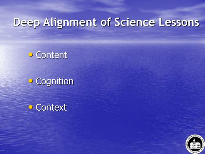 Deep Alignment of Science Lessons