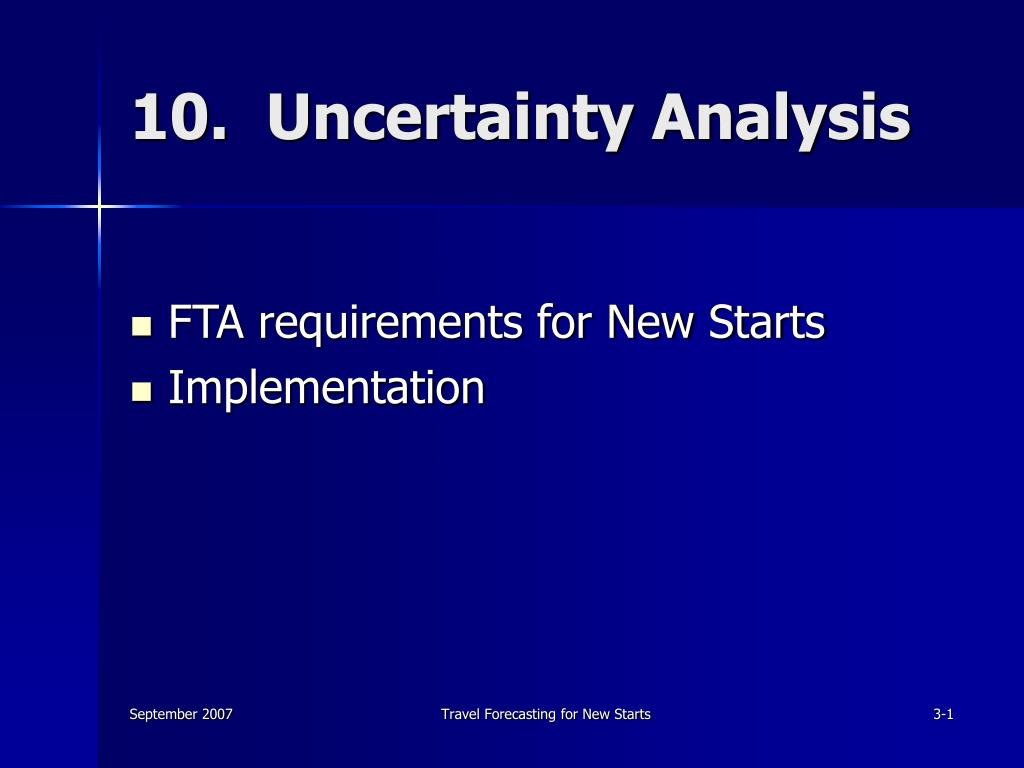 10.  Uncertainty Analysis