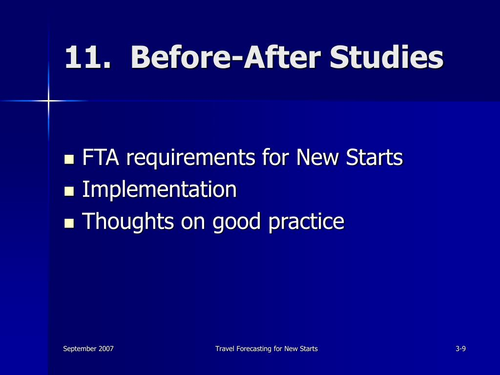 11.  Before-After Studies