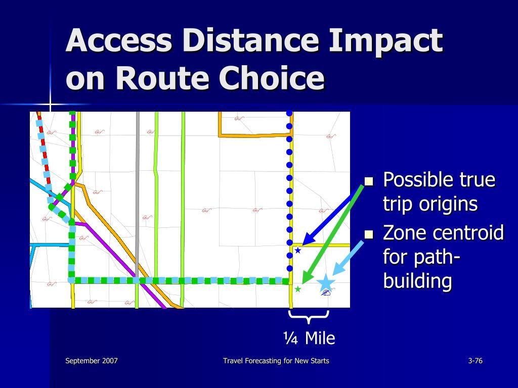 Access Distance Impact