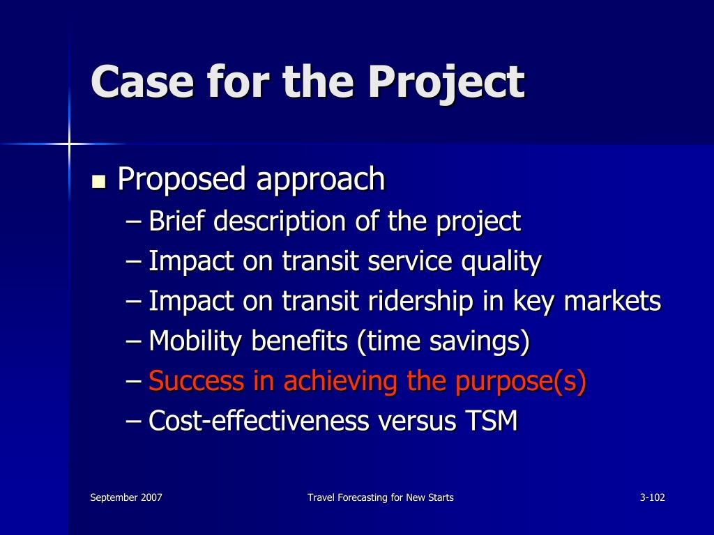 Case for the Project