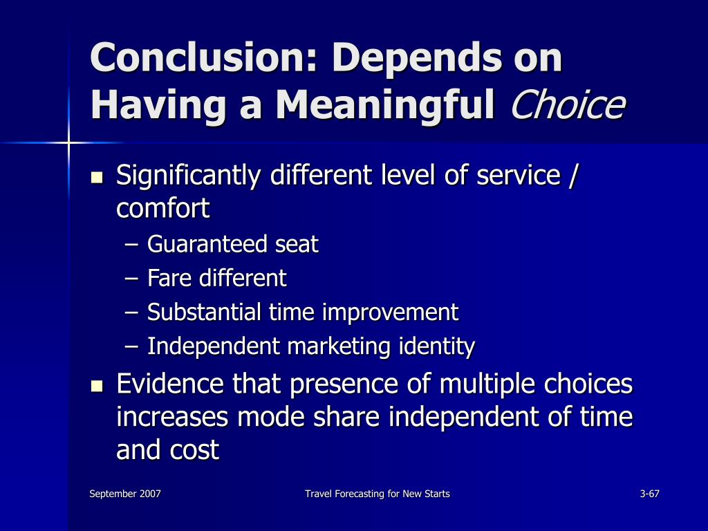 Conclusion: Depends on Having a Meaningful