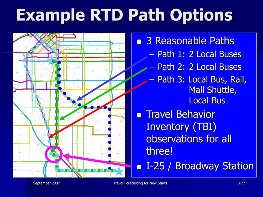 Example RTD Path Options