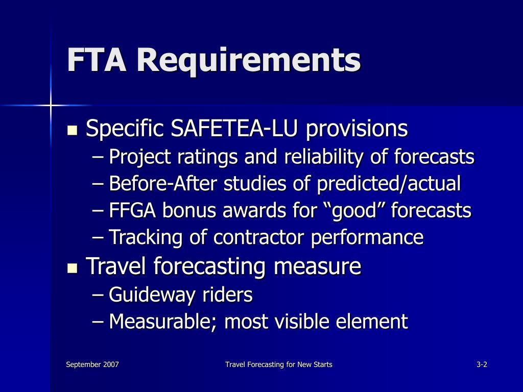 FTA Requirements