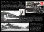 old mumbai s transport system