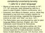 complexity uncertainty anxiety calls for a plain language