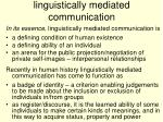 linguistically mediated communication