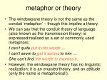 metaphor or theory
