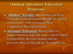 outdoor adventure education programs