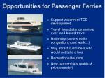 opportunities for passenger ferries