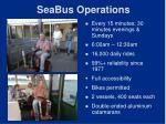 seabus operations