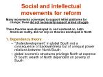 social and intellectual movements for reform