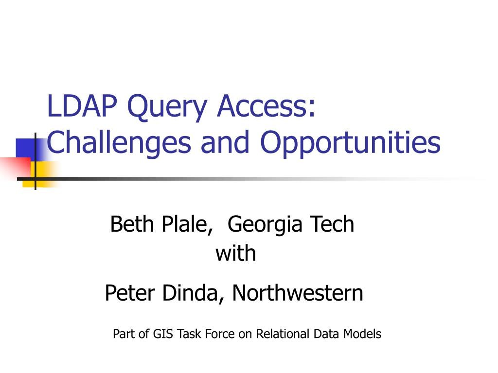 ldap query access challenges and opportunities l.
