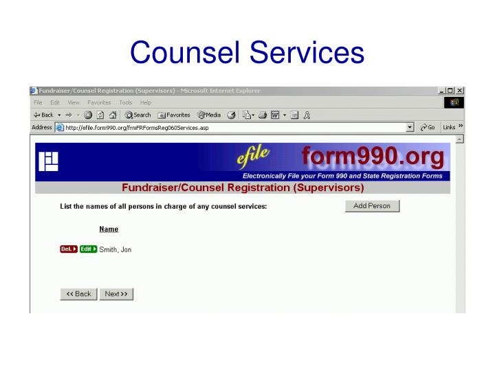 Counsel Services