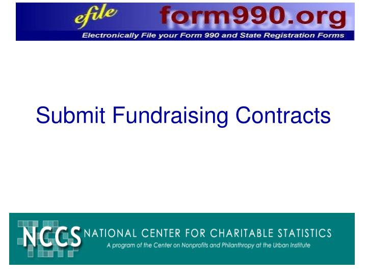 Submit Fundraising Contracts