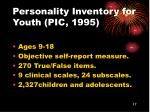 personality inventory for youth pic 1995
