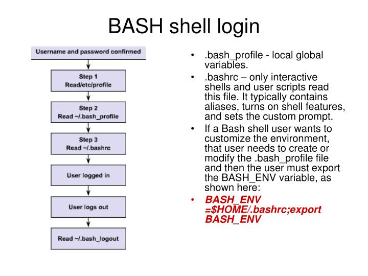 BASH shell login