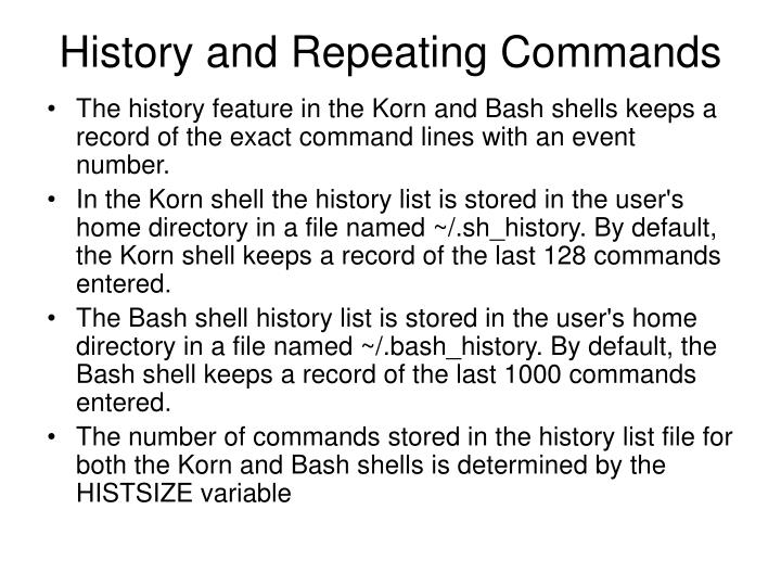 History and Repeating Commands
