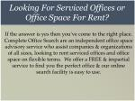 looking for serviced offices or office space for rent