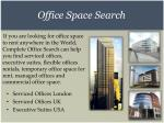 office space search