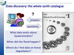 data discovery the whole earth catalogue