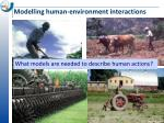 modelling human environment interactions