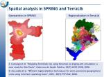 spatial analysis in spring and terralib