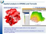 spatial analysis in spring and terralib27