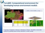terrame computational environment for developing human environment models