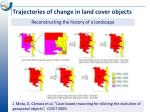 trajectories of change in land cover objects