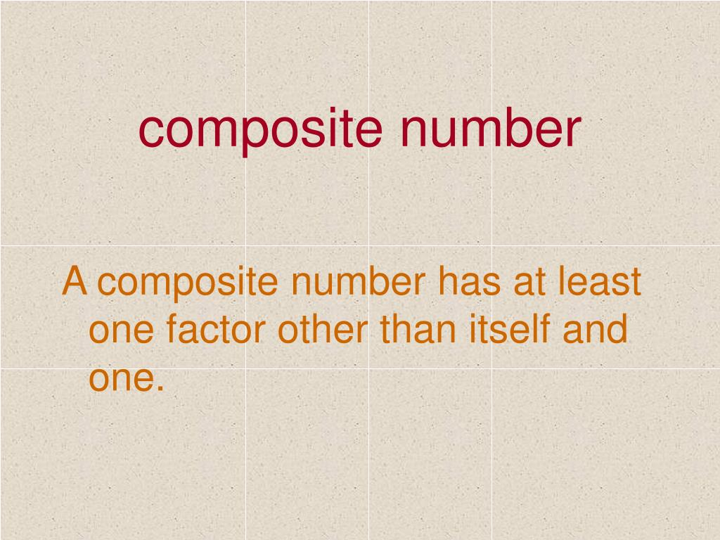 composite number