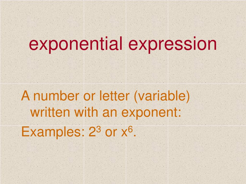 exponential expression