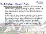 key definitions borrower profile5