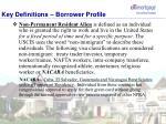 key definitions borrower profile6
