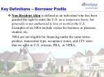 key definitions borrower profile7