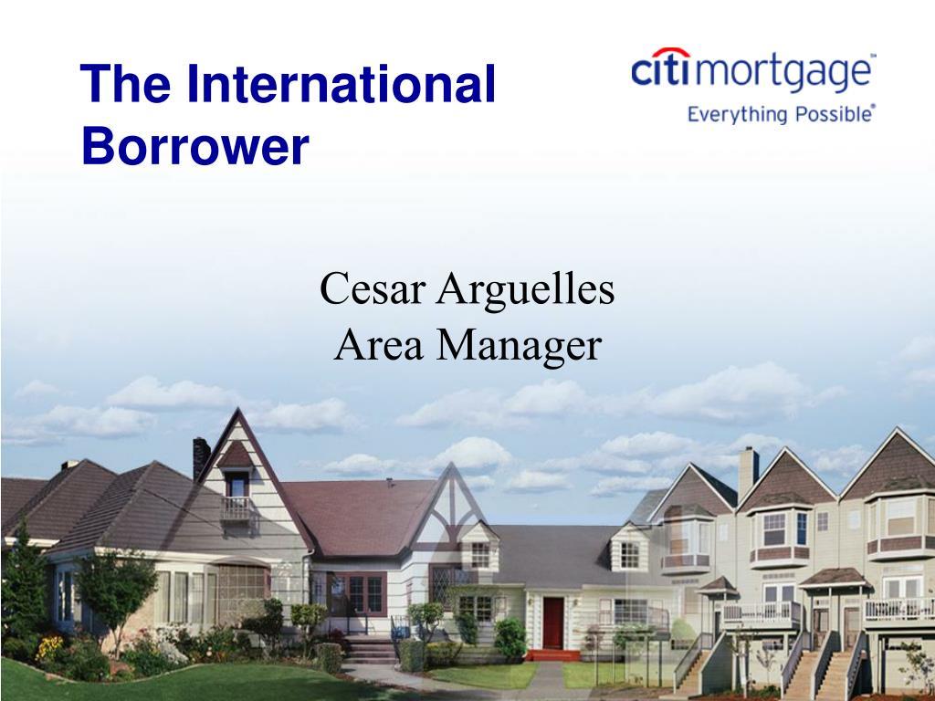 the international borrower l.