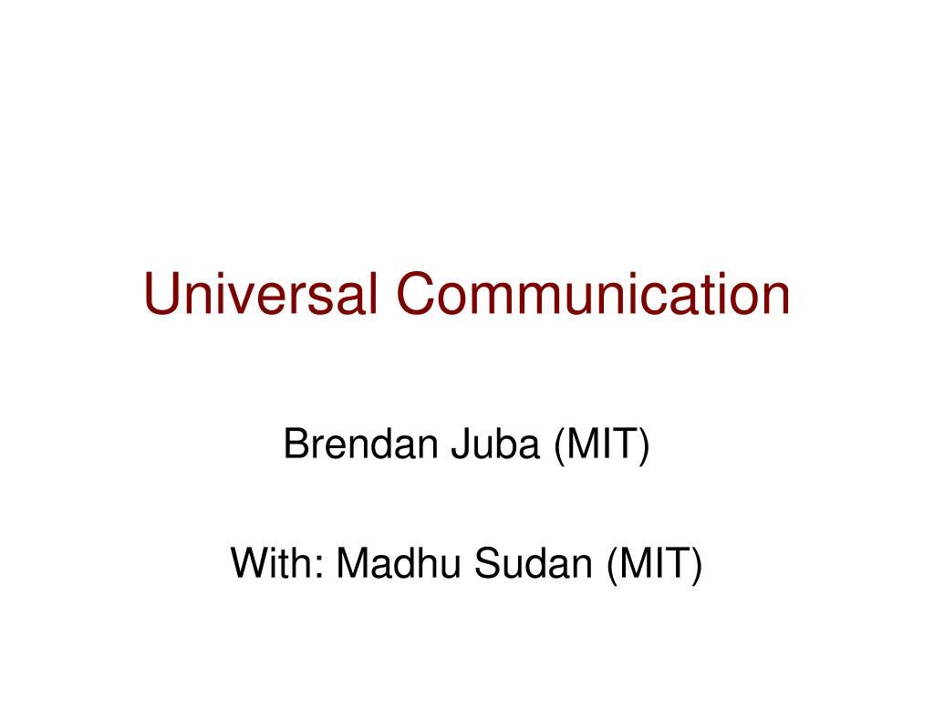 universal communication l.