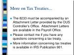 more on tax treaties