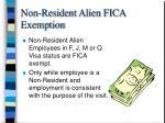 non resident alien fica exemption