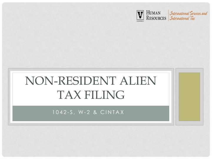 non resident alien tax filing n.