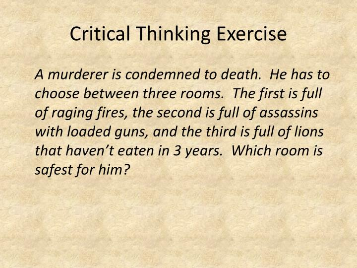 Critical thinking exercise