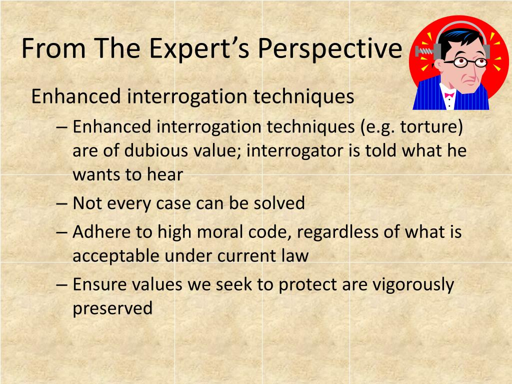 From The Expert's Perspective