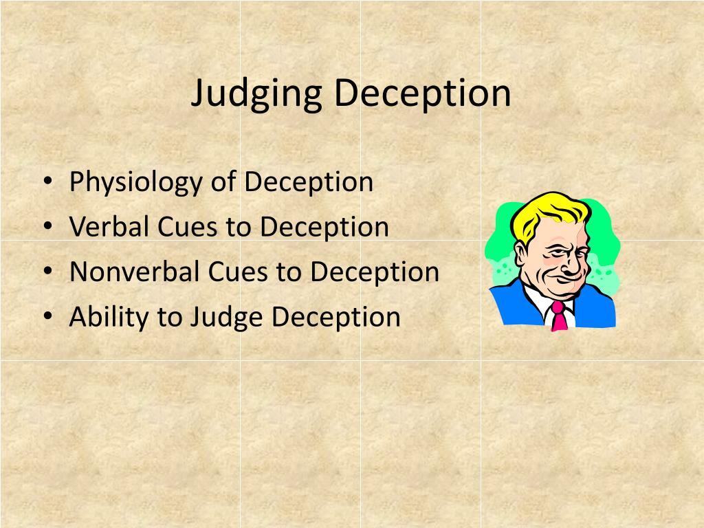 Judging Deception