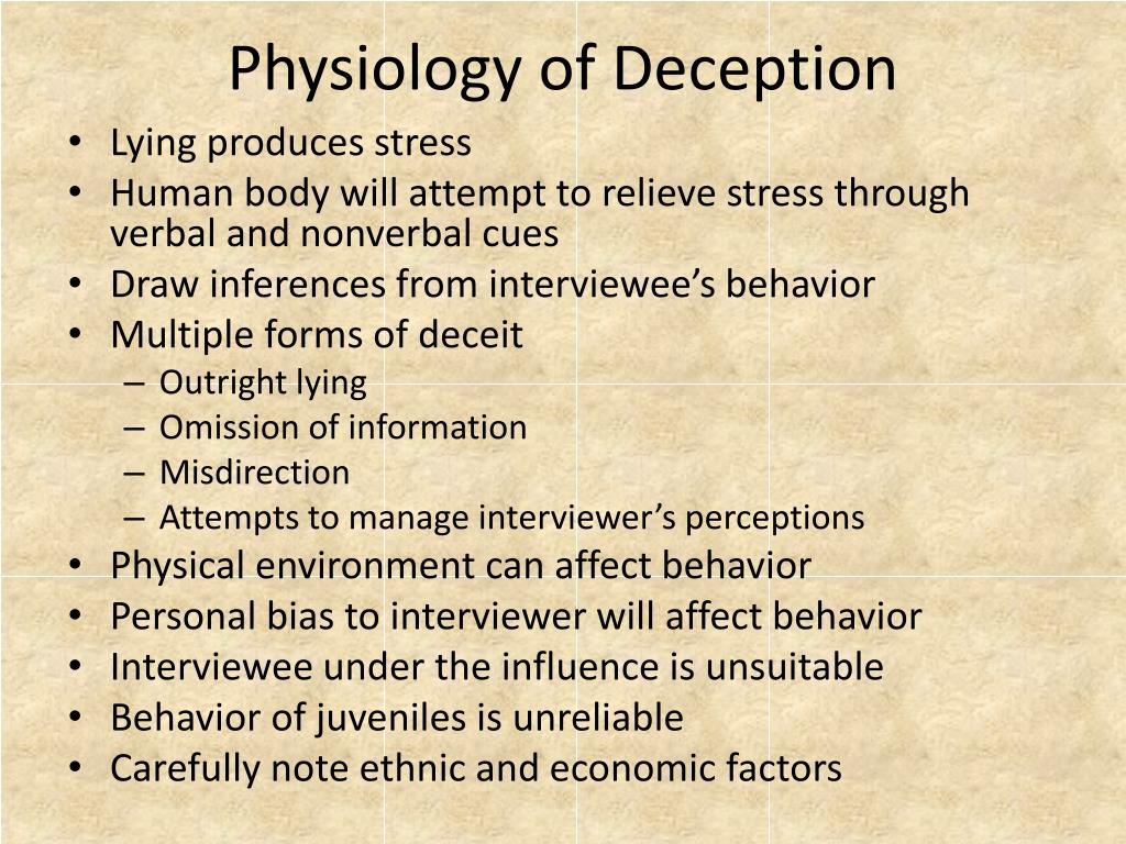 Physiology of Deception