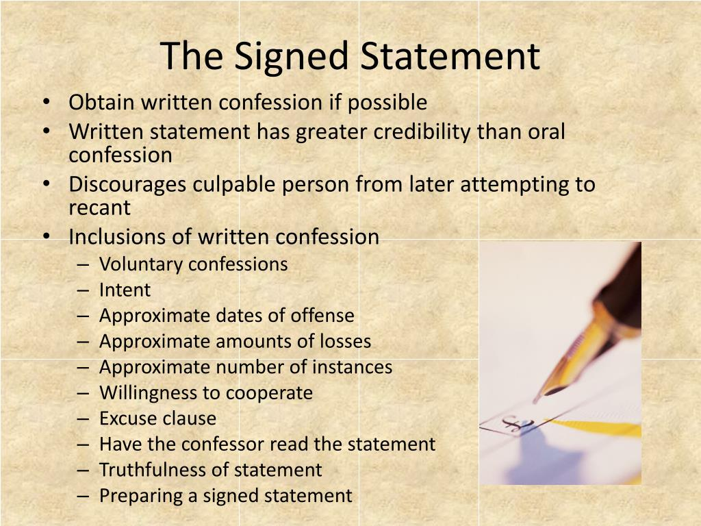 The Signed Statement