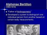 alphonse bertillon 1853 1914