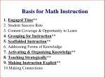 basis for math instruction