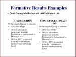 formative results examples