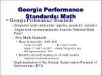 georgia performance standards math